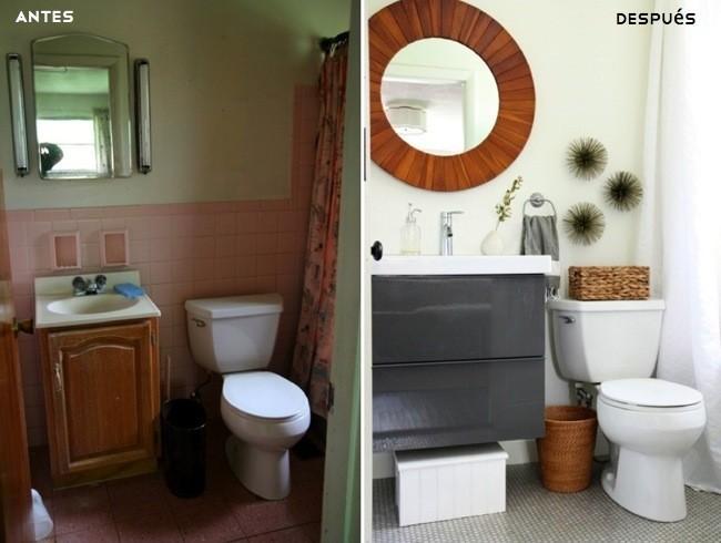 Cambio de look radical en el cuarto de ba o - Decoracion de casas antes y despues ...
