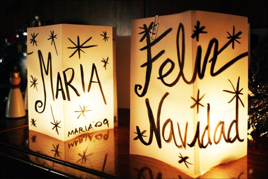 Adornos y decoraci n navidad 2014 textiles - Farolillos para velas ...