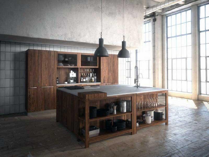 Living Kitchen 2015 TEAM-7-Loft-Küche-nussbaum