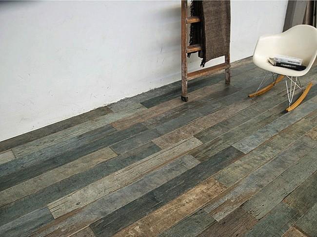 Sant 39 agostino crean cer mica que imita a madera envejecida for Suelo ceramico madera