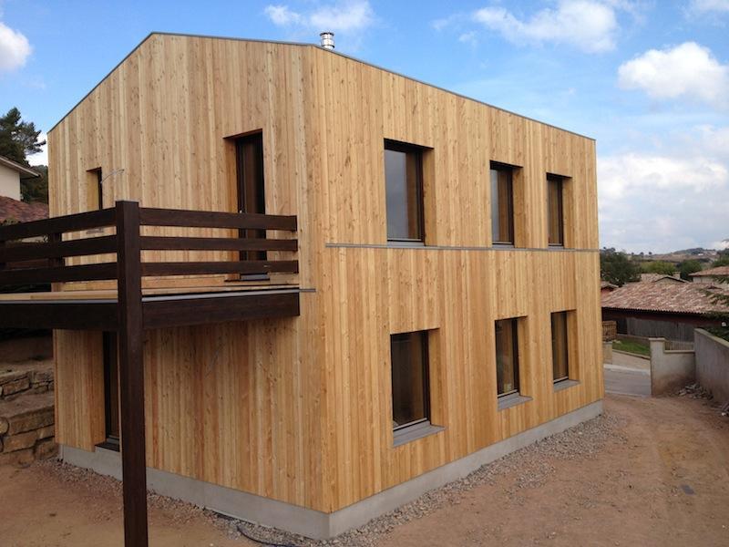 Casa pasiva Larixhaus acabada