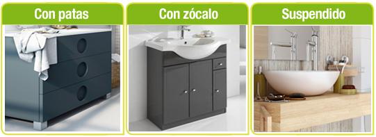 tipos de muebles de baño