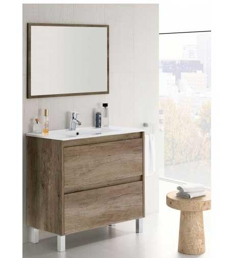 mueble de baño con patas