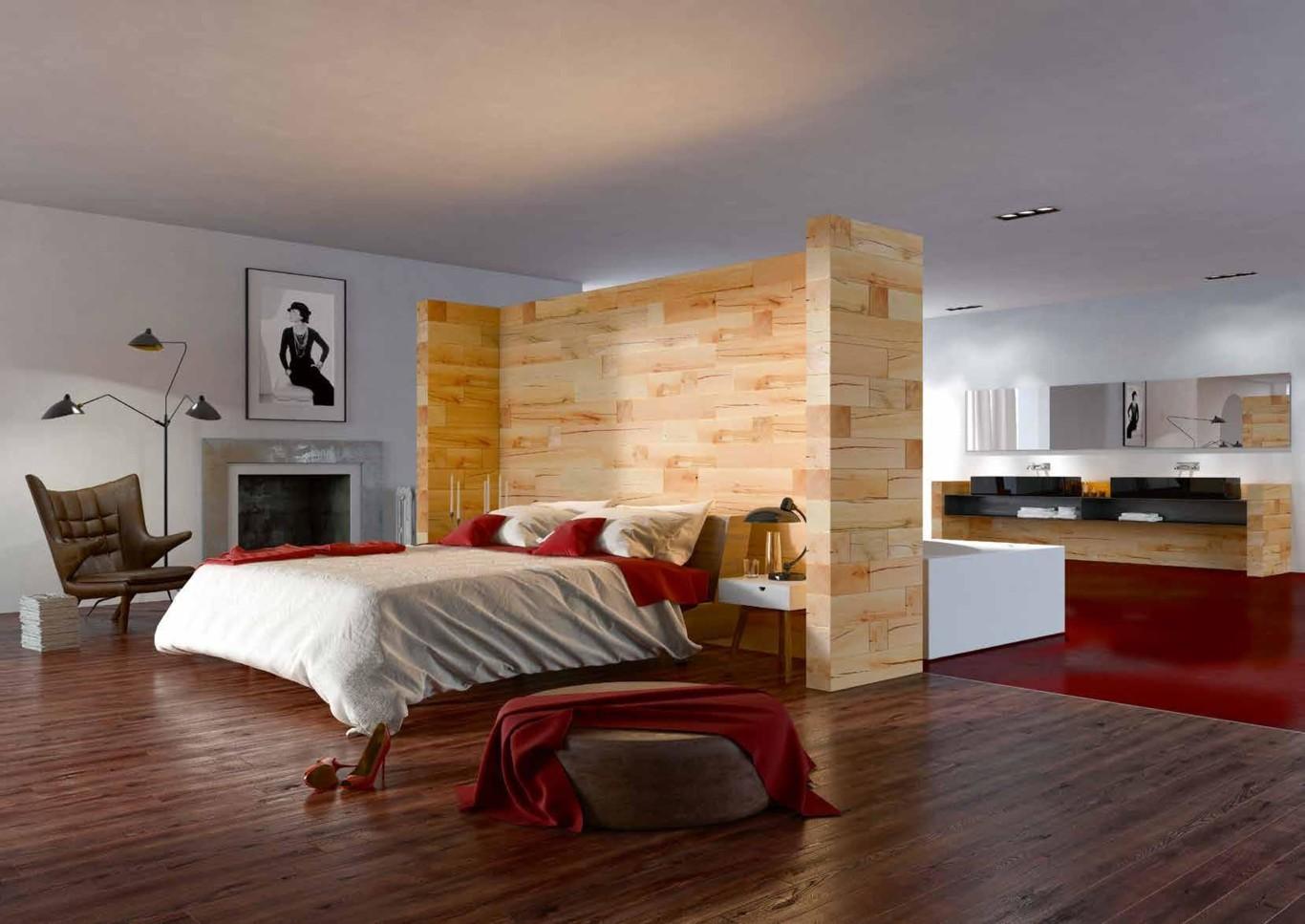 dormitorio salon madera