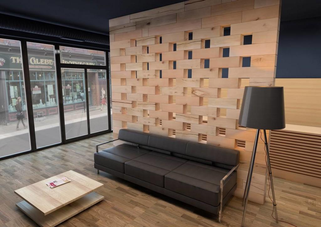 Los sistemas modulares en madera son tendencia para - Muebles separadores de espacios ...