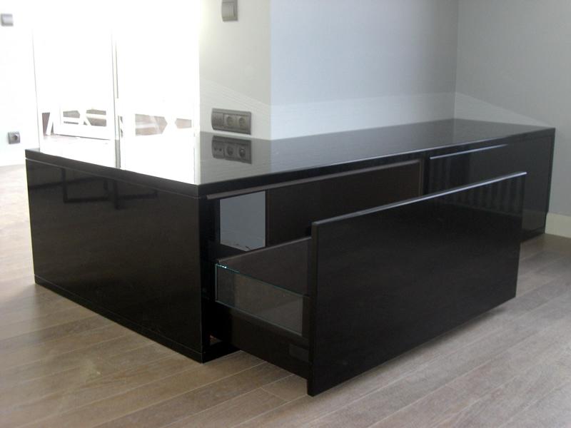mueble negro lacado a medida
