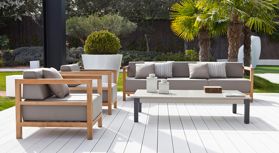 Jardines de moda 2016 tendencias para for Muebles para terraza en madera