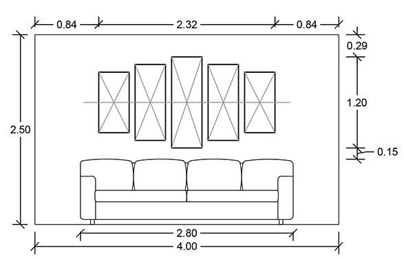 Como colgar un cuadro en el sal n comedor decoraccion for Living room y sus partes