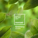 "Color de moda en 2017 Pantone 15-0343 ""greenery"""