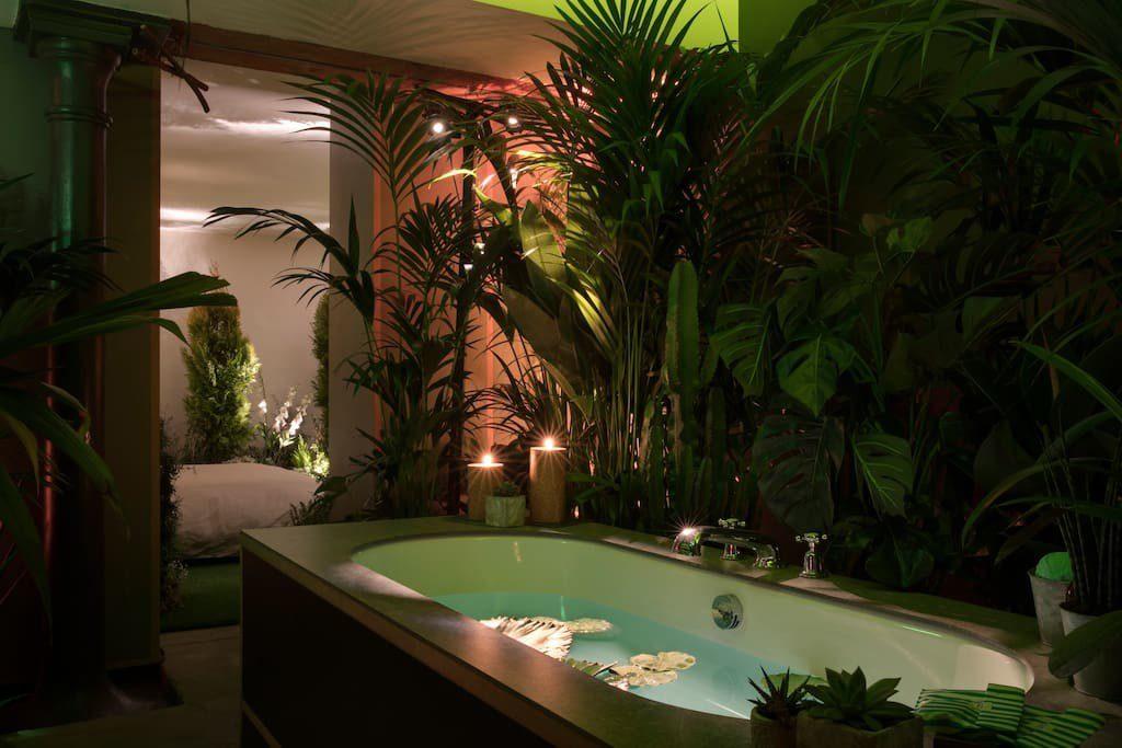 baño hotel verde