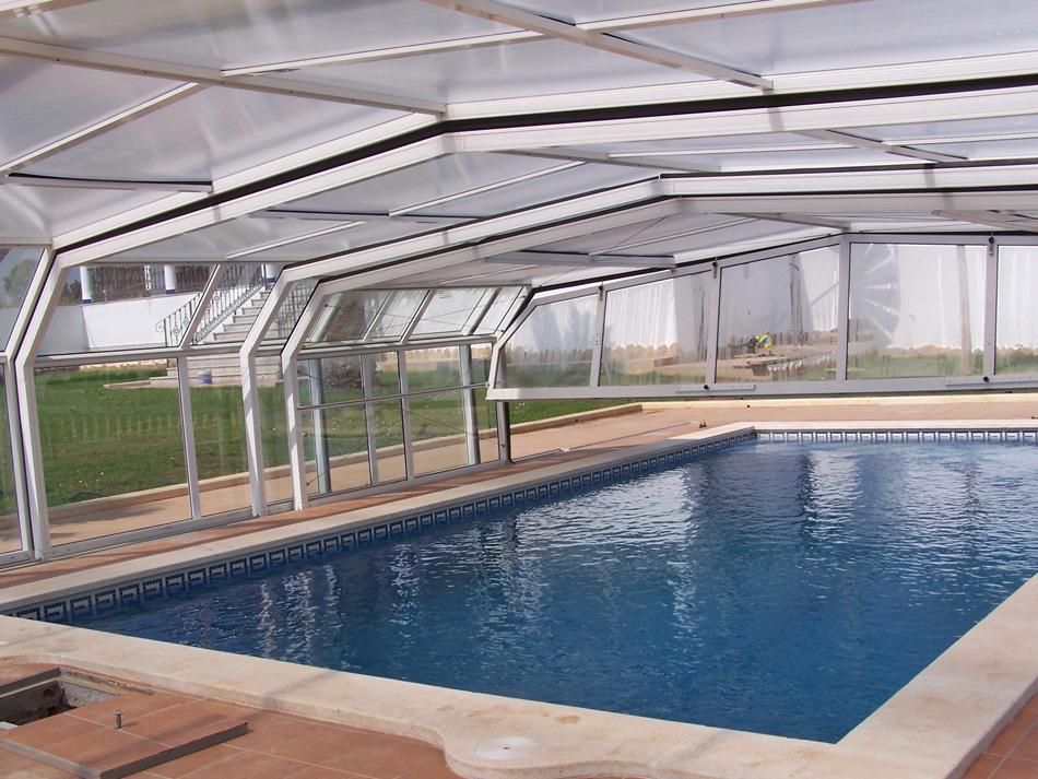 cubierta de piscina alta