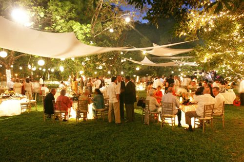 fiesta jardin noche