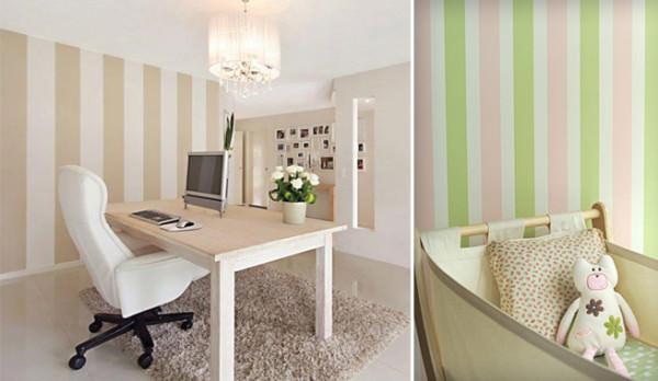 C mo crear espacios nuevos en mi hogar - Habitaciones infantiles pintadas a rayas ...