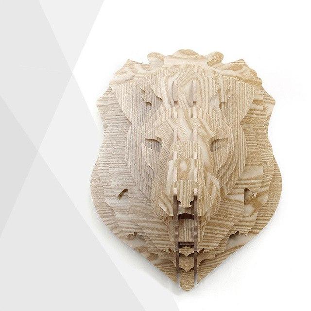 silueta leon madera