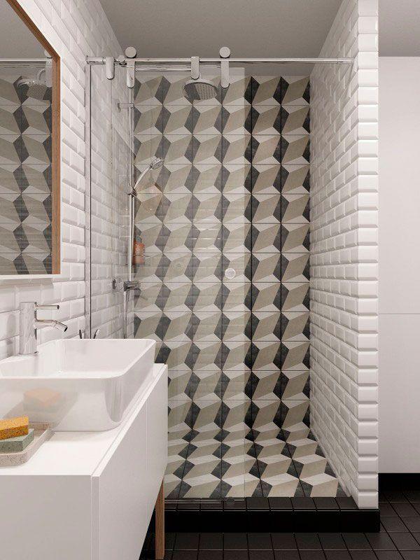 trucos para decorar baños mini ducha