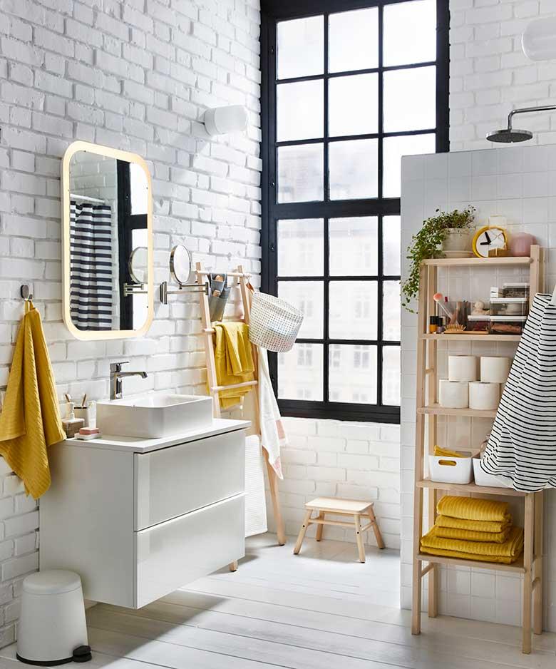 trucos para decorar baños mini textiles