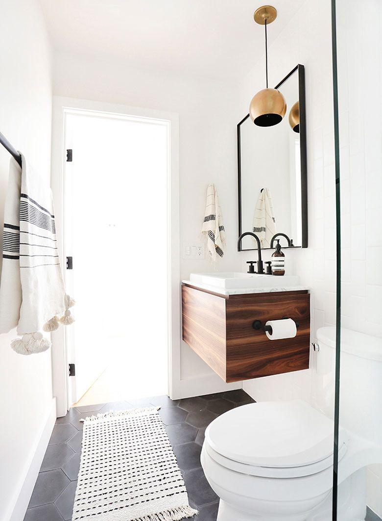 baño mini espejo