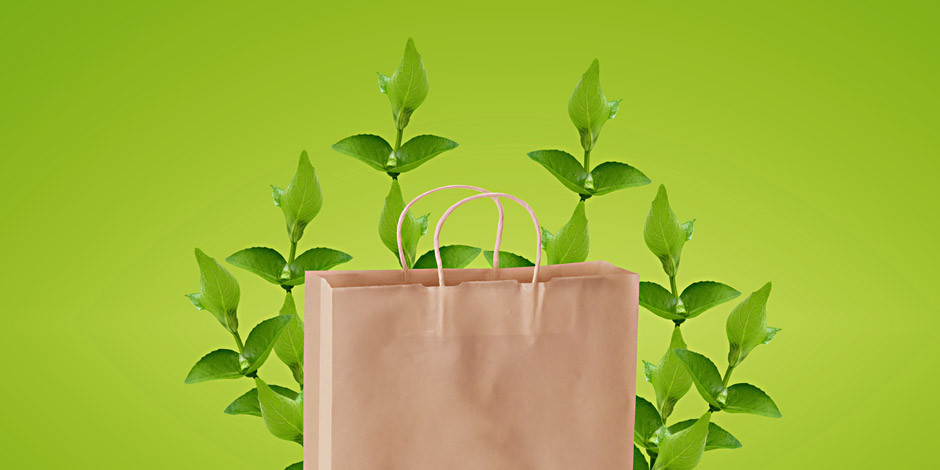 bolsa de papel biodegradable