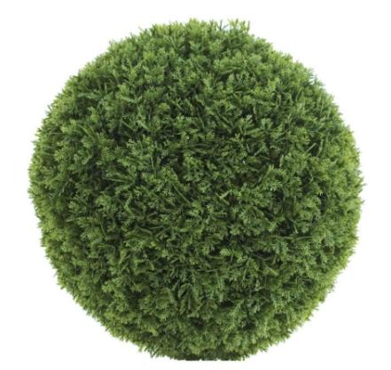 Esfera decorativa de hojas artificiales ciprés común