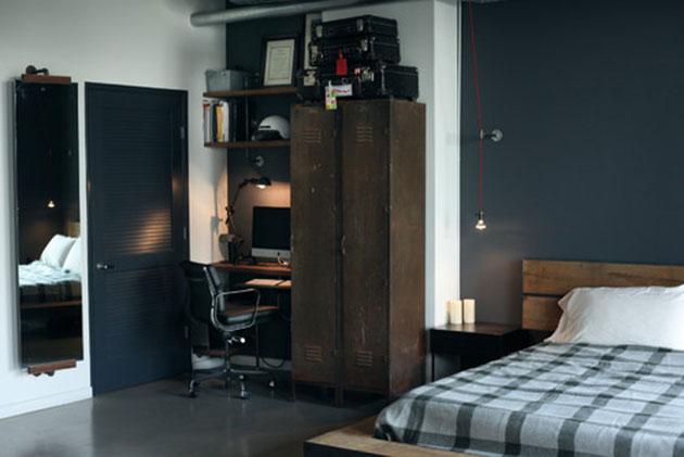taquilla metálica en dormitorio