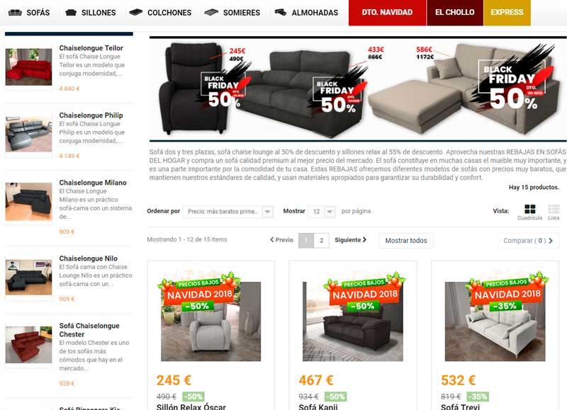tienda sofas online