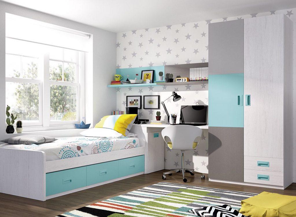 dormitorios juveniles modernos azul