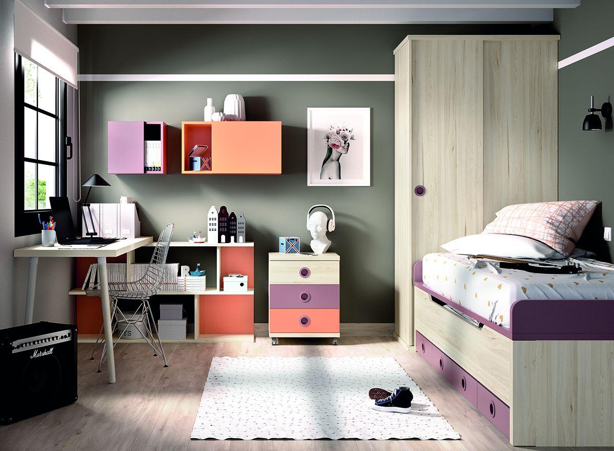 dormitorios juveniles modernos madera