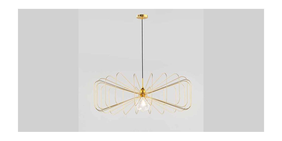 lámpara de diseño oro