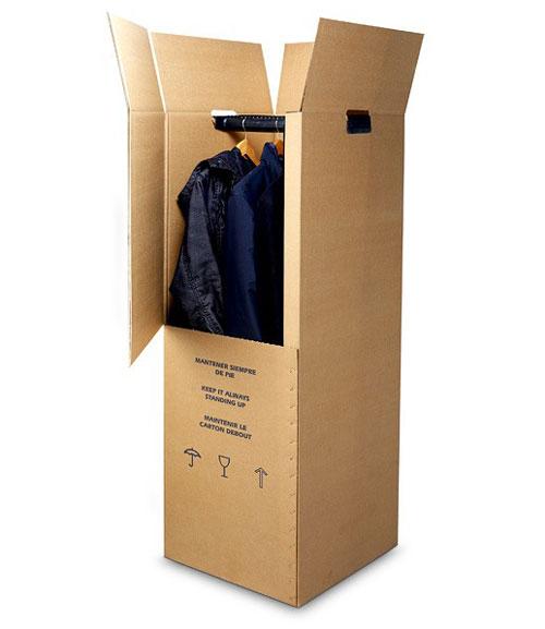 caja cartón armario