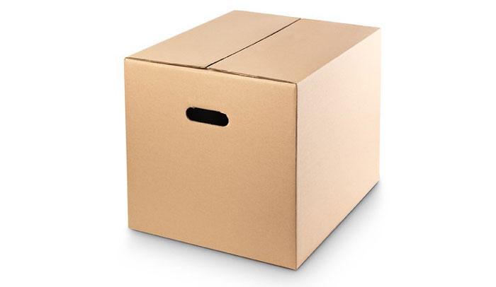 caja carton con asas