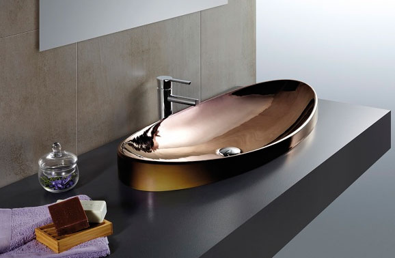 lavabo color bronce