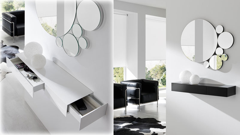 mueble de entrada minimalista