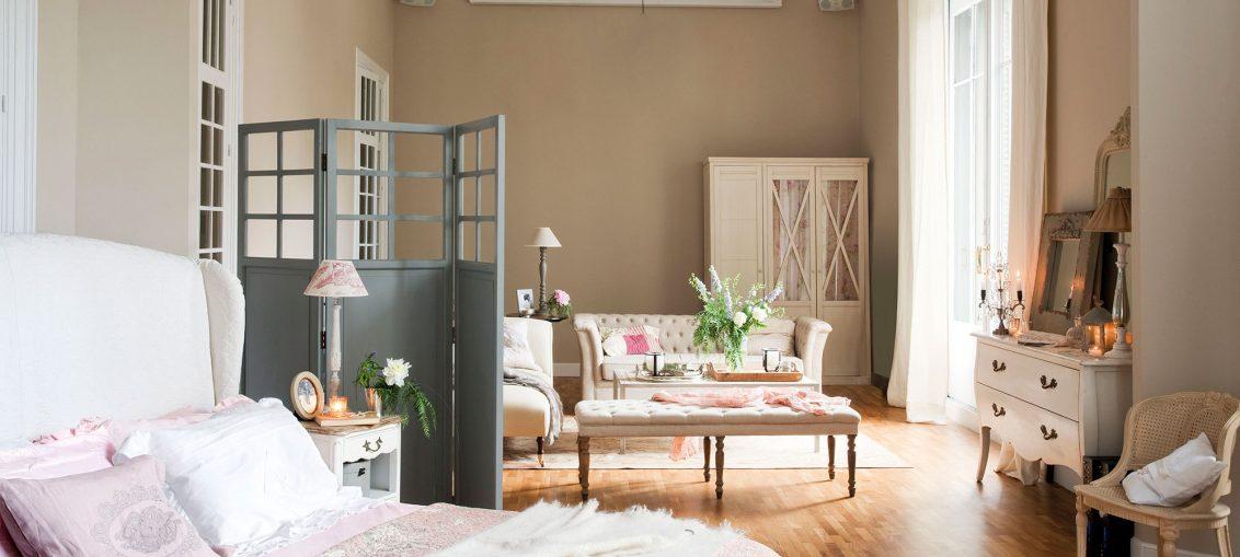 dormitorio biombo gris
