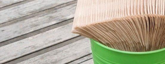 servilletas de papel reciclado