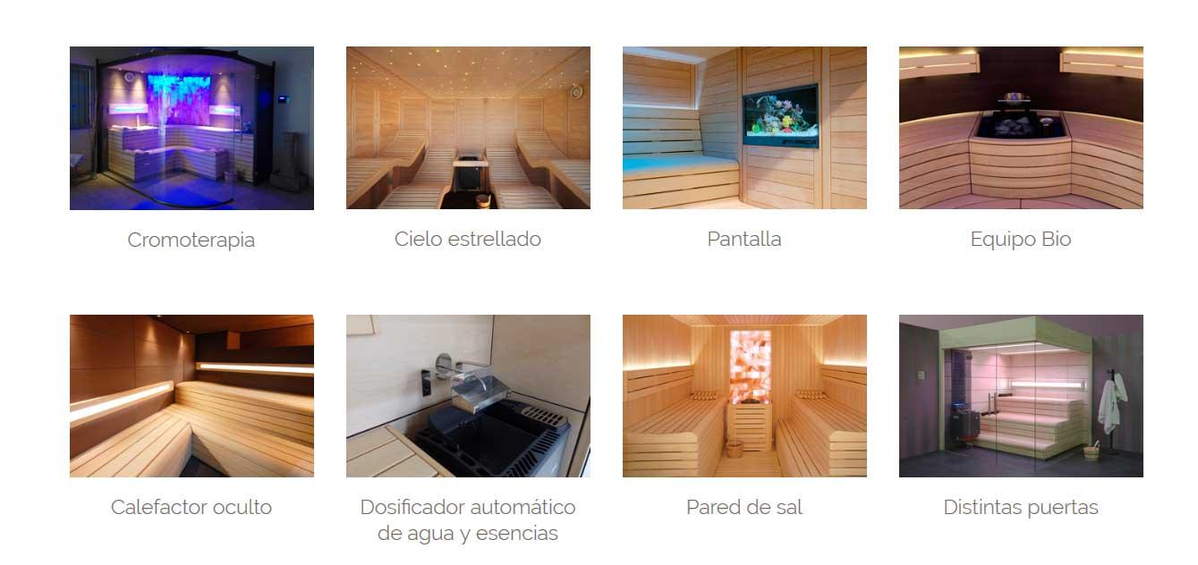 accesorios sauna