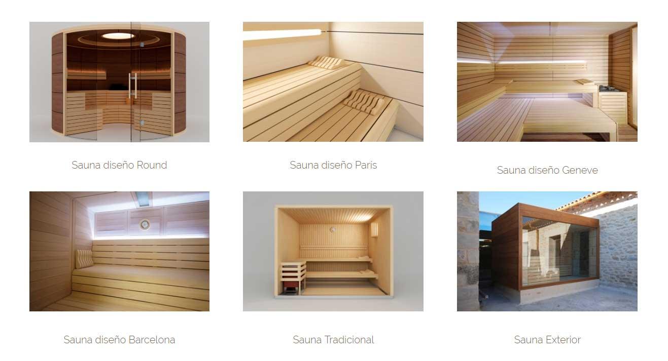 diseño saunas inbeca