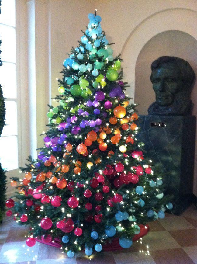 árbol navidad multicolor