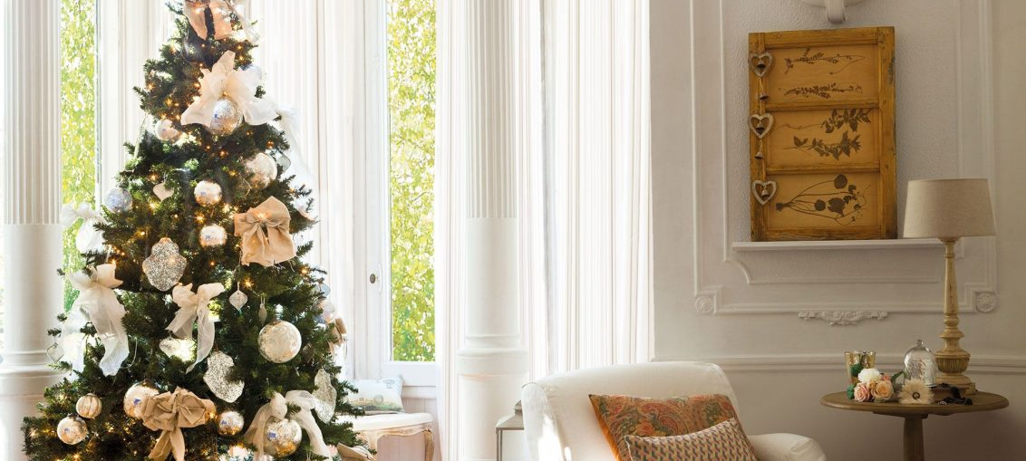 salón árbol Navidad