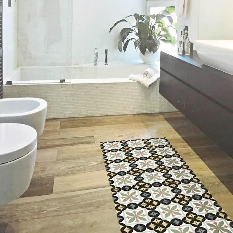 alfombra vinílica baño