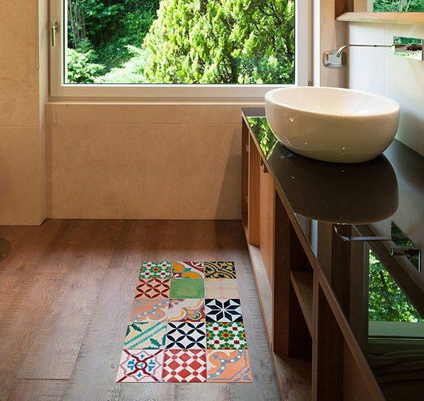 baño alfombra