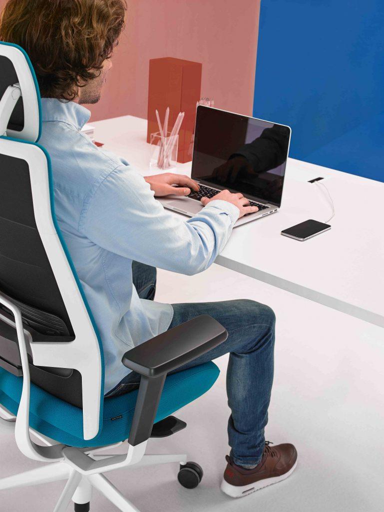 silla oficina ergonomía