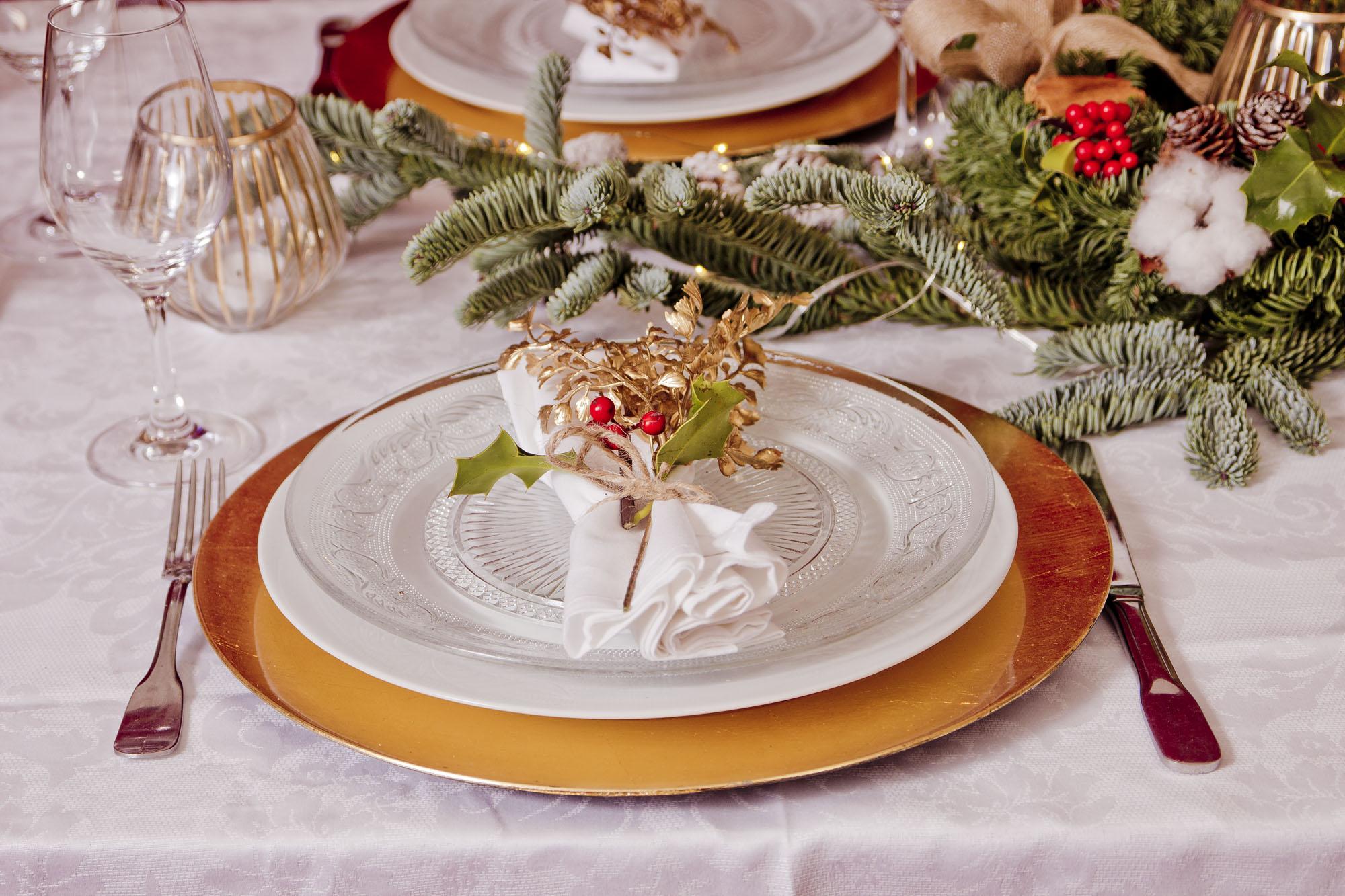 platos navidad