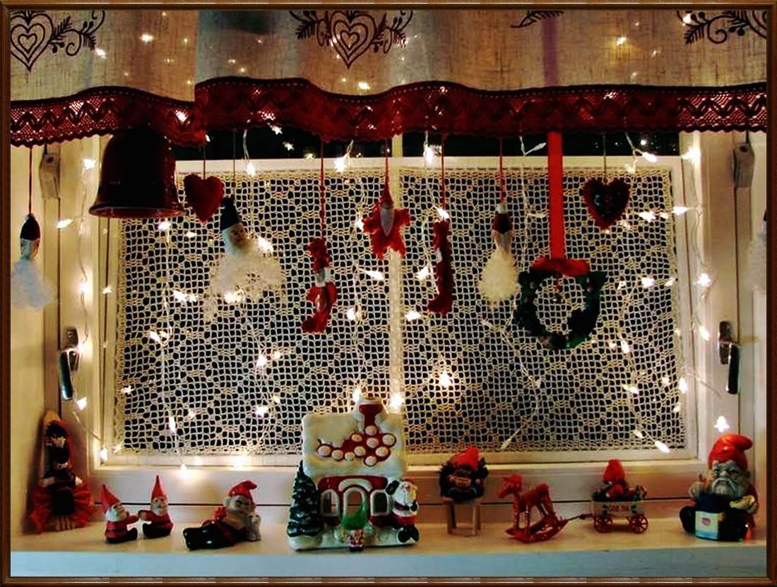 ventana decoración navidad