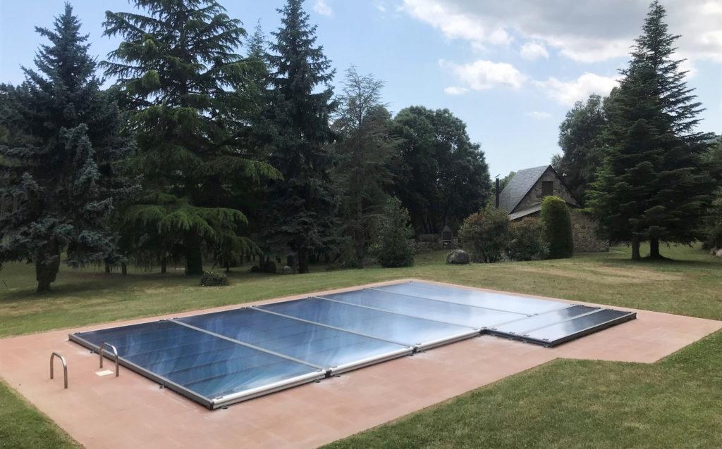 cubierta piscina plana amovible