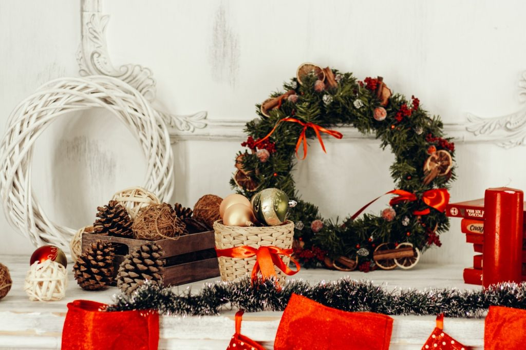 adorno entrada navidad