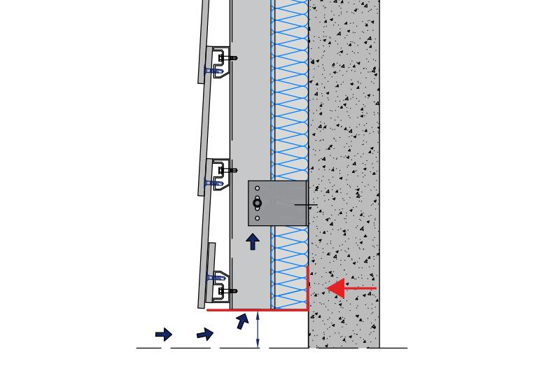 esquema fachada ventilada