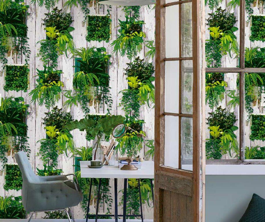 decoración hotel verde