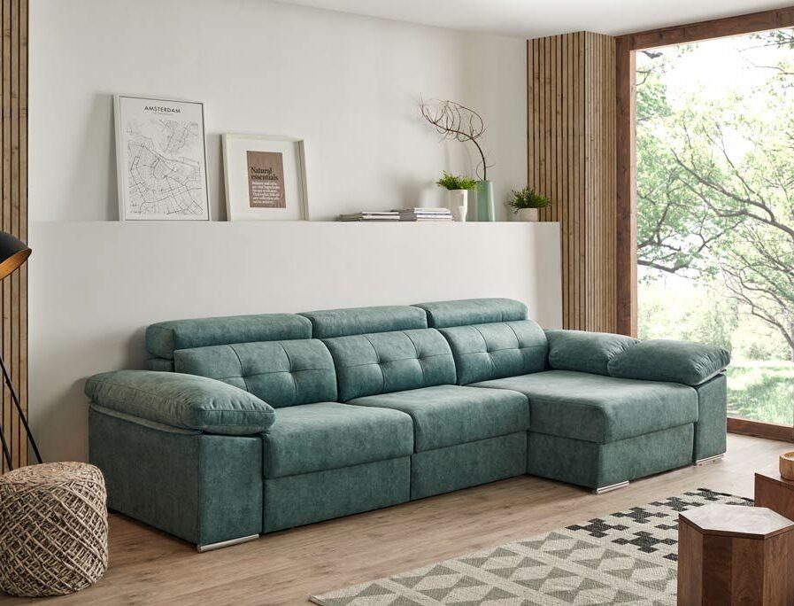 chaise longue verde