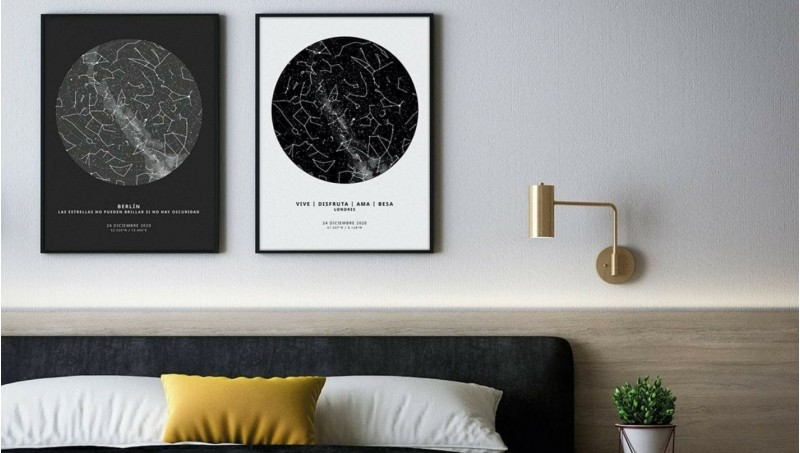 The Unique Poster: Póster de mapa estelar y de ciudades 100% personalizado