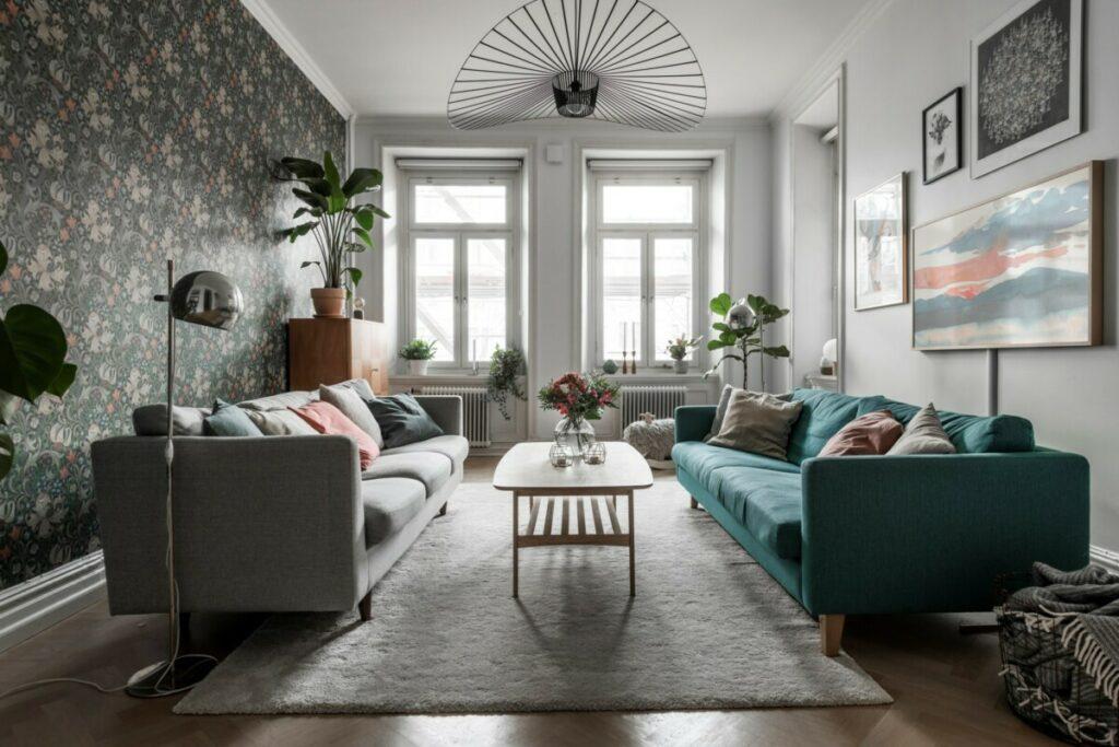 Cómo colocar dos sofás en un salón